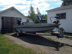 Prince Craft Pro Series 162 and trailer for sale
