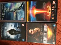 I Am Legend, The Day After Tomorrow, War of The Worlds and The Core DVDs. £4