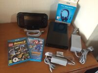 Nintendo WII U 32GB Black with 3 GAMES! Bigger Battery and Genuine Headset