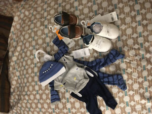 Baby boys sleeper set and shoes