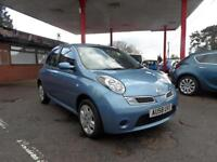 08 (58) NISSAN MICRA 1.2 ACENTA 5DR, 81,200 MILES FULL SERVICE HISTORY