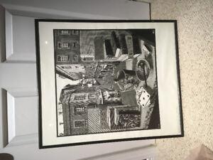 MC Escher art print 1978  Still Life and Street.