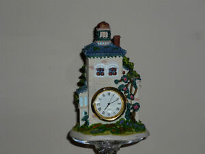 clock ..Quartz, English Country Garden style ..porcelain