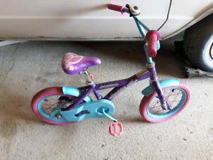 "Girls bike  21"" from ground to seat  31"" to handle bars"