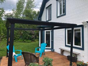 Projet de Gazebo avec toit en polycarbonate pour Bricoleur