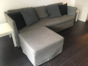 Ikea Sectional/SofaBed with storage