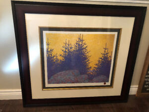 Yellow sky Blue spruce by Tom Thomson, Group of seven