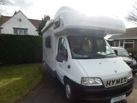 Hymer Camp C494 Fiat Diesel 4 Berth Motorhome For Sale, High Quality, Compact