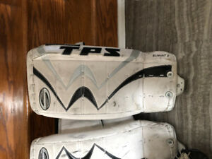 "20"" TPS pads with Reebok glove and Bauer Blocker"