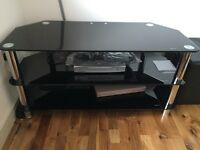 Black tv unit.