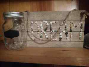 Fairy light jar and sign