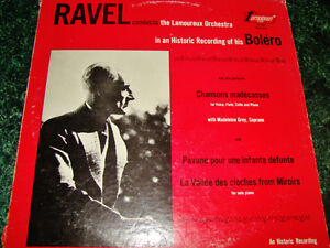 LP- BOLERO- RAVEL CONDUCTS LAMOREUX ORCHESTRA-   My LPs are all