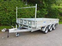 dale kane 14x6,6 flat bed trailer tri axle