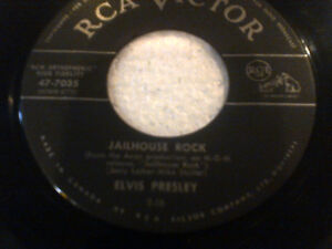 ELVIS PRESLEY LOST RECORDS 1957CANADIAN RCA 45RPM JAILHOUSE ROCK Cambridge Kitchener Area image 5