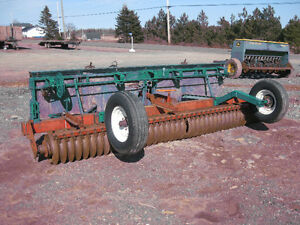 14' Brillion Roller with grass seed box,16.9x38 duals