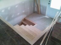 Escaliers et finition intérieure, neuf ou rénovation.
