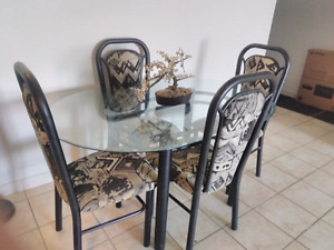 Steel Glass Dining Table