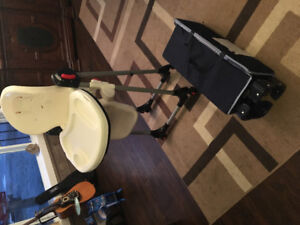 Playpen and portable high chair