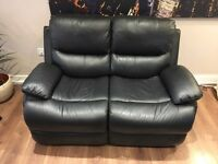 Sofaworks/Sofology 2-seat Black Leather Electric Recliner