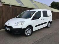 Peugeot Partner Crew Van 1.6HDi 2015 L2**1 OWNER**FACTORY FITTED CREW*