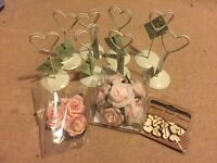 Wedding table places and craft items