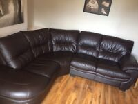 Dfs - dark brown leather corner