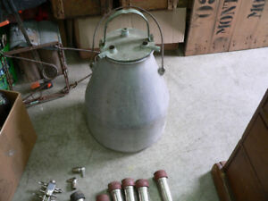 bidon de lait antique # 4312