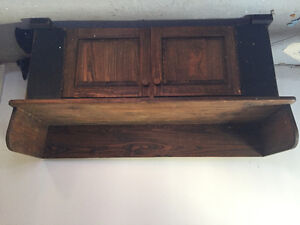 Handmade Antique style hall bench with storage