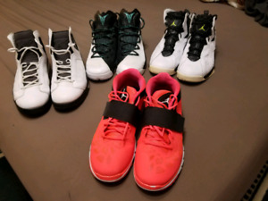 3 Jordan basketball retro and 1 fitness shoes 13 us  for $500