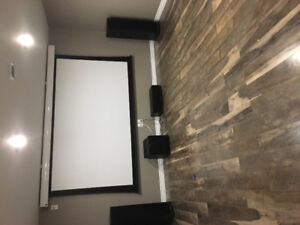 "HOME THEATRE 90"" PROJECTION SYSTEM"