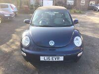 Volkswagen Beetle 1.4 convertible 2004 blue/met part exchange clearance bargain mot'd