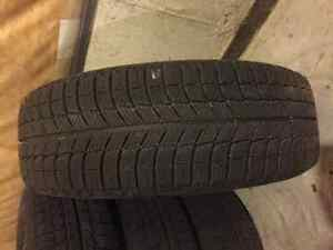 4 Michelin winter tires with steel rims