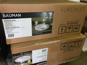 Two - Brand new modern sink bases in box
