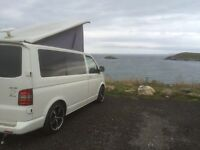 Vw t5 transporter camper motorhome hire £350 for 3 days