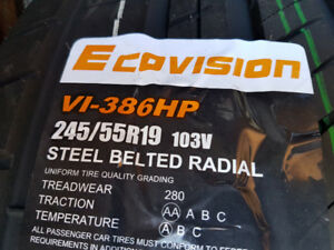 4 X NEW 245-55-R19 SUMMER OVATION ECOVISION TIRE NEUFS TAX IN