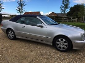 Mercedes CLK convertible, satellite navigation, 2 owners