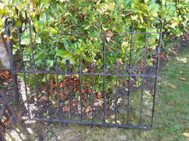 Pair of wrought iron gates.