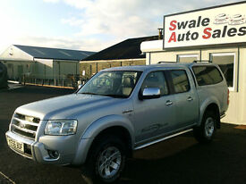 2006 FORD RANGER THUNDER XLT 2.5TDCi DOUBLE CAB PICK UP, 4 WHEEL DRIVE