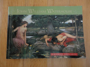 BRAND NEW JOHN WILLIAM WATERHOUSE POSTCARD BOOK VINTAGE