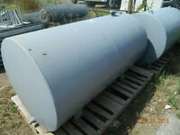 2 large steel tanks