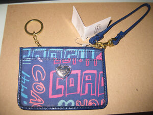 AUTHENTIC COACH famous skinny minis with ID holder all NEW