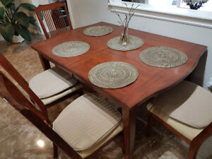 Dining table set and a chest for sale