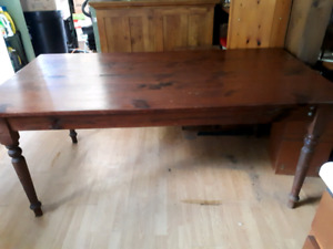 Hand made pine harvest table for sale