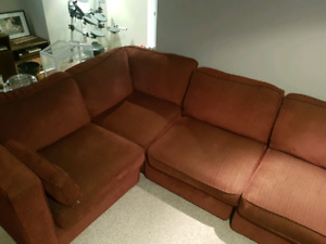 Burgundy 4 piece sectional