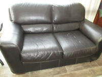 BONDED LEATHER COUCH & LOVESEAT