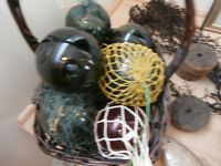 Selection of Vintage Blown Glass Fishermen Bouys at KeepSakes