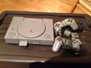 Playstation 1 with 5 games