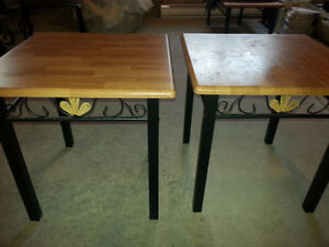Side table, chair