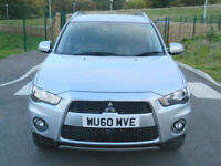2010 60 Mitsubishi Outlander 2.2DI-D Juro WITH FSH+FULL BLACK LEATHER+7 SEATS