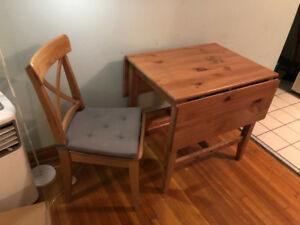 Wooden Kitchen Table and Chair